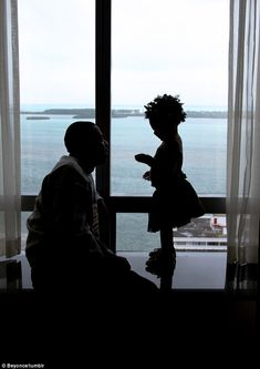Room with a view: Going on tour with her mother and father has meant travelling the world for little Blue Ivy