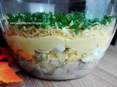 Swojskie jedzonko: Śledzik pod pierzynką -inaczej Camembert Cheese, Mashed Potatoes, Mango, Keto, Pudding, Health, Ethnic Recipes, Desserts, Food