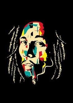 Illustration of Bob Marley Bob Marley Painting, Bob Marley Art, Bob Marley Smoking, Reggae Art, Reggae Music, Rasta Art, Bob Marley Legend, Bob Marley Pictures, Nesta Marley