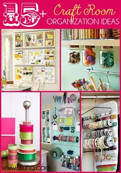 craft room organization | 15+ Craft Room Organization Ideas on { lilluna.com } #craftroom