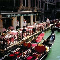 venice gondola's