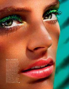 Some like it hot : Elle UK. Colorful make up