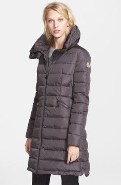 Moncler 'Flamme' Pillow Collar Down Coat available at #Nordstrom