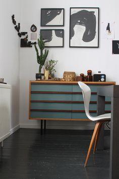 Cool vintage dresser in blue