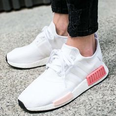 3068cce11 buty adidas nmd r1 women footwear white icey pink (by9952) Black Nike Shoes