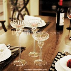 3 1/3 in Diameter Drinkware Shaped Candle Holder (More Size,7 、8 3/5、9 1/2) - USD $ 5.99