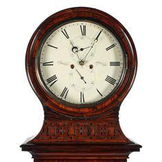 Rosewood Drumhead Grandfather Clock