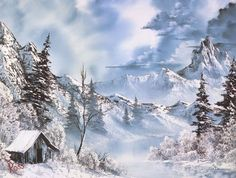 "Bob Ross' painting ""Shades of Grey"" - Fifty times more awesome!"