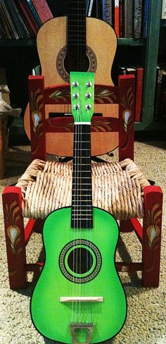 The green guitar