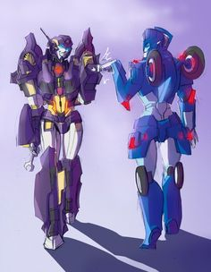 Nautica and Chromia fistbumping by herzspalter.