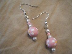 Medium Pink Daisy Earrings by CountryLovinGems on Etsy, $8.95