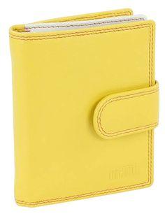 Damenbörse mit Klappe und Riegel (gelb) - M17702YE