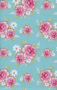 Tilda Fabric - Rosy Teal by jowynj, via Flickr
