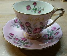 Princess Anne Fine Bone China Leaf Gold Trim Footed Tea Cup & Saucer MOTHER  #PrincessAnne