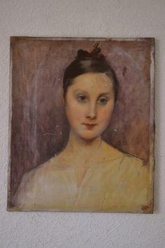 TABLEAU Ancien Splendide PORTRAIT Femme XIX Art Deco Gt MODIGLIANI PICASSO 19th | eBay