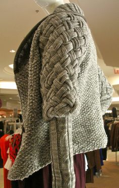Textured knit cardigan at Bloomingdales Chicago Nov 2010