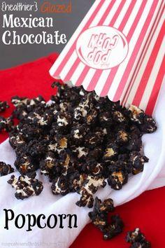 {healthier} Glazed Mexican Chocolate Popcorn | cupcakesandkalechips.com | #glutenfree #vegan #snack
