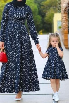 Little Multi Dot Dress modest Mango Modest Dress Abaya Fashion, Muslim Fashion, Modest Fashion, Girl Fashion, Fashion Dresses, Mom Daughter Matching Dresses, Little Girl Dresses, Girls Dresses, Mom Dress