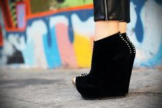 #black #silver #wedges #shoes #collection #blogger #streetstyle