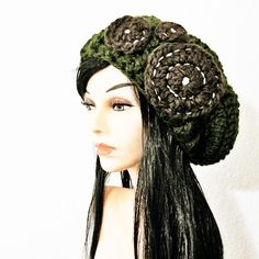 Starry Starry Night Hat in Olive Green