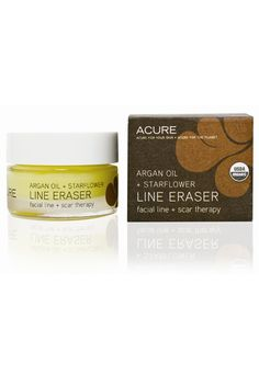 Acure Line Eraser, $20; acureorganics.com This balm, formulated with skin-plumping argan oil and damage-reversing borage oil, targets scars and discoloration.   - ELLE.com