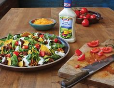 Quick Taco Salad – A delectable mash-up of fresh lettuce and tomatoes, cheese and lean ground beef, without the hassle of stuffing a shell. #PinThatTwist