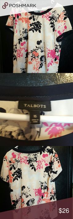 TALBOTS BLOUSE Multi color, Gently used condition.  No rips nor stains, please ask questions Talbots Tops Blouses