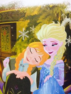 Anna and Elsa are so cute together❄️