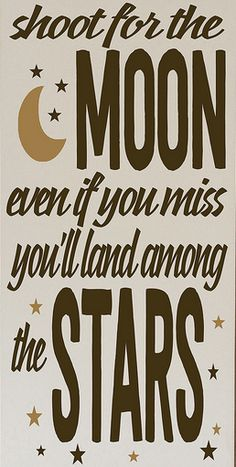 'Shoot for the Moon' Wall Art