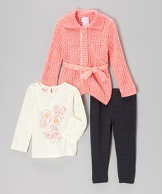 Loving this Pink Butterfly Cardigan Set - Infant & Toddler on #zulily! #zulilyfinds