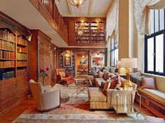 "Two Story Library (Wow, kinda like the castle library in ""Beauty & The Beast"")"
