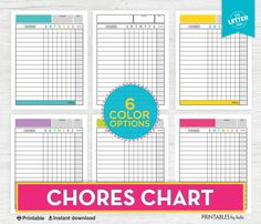 Printable Kids Chore Chart Chore Chart Responsibility Chart Kids