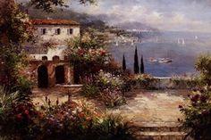 Mediterranean Villa 36 x 24 available from Fulcrum Gallery.