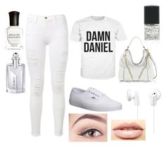 """The Damn Daniel outfit"" by constanza-memeriz ❤ liked on Polyvore featuring Frame Denim, Vans, Rebecca Minkoff, Sony, LASplash, Deborah Lippmann and Cartier"