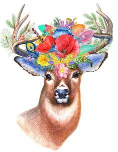 Shop Majestic Bohemian Wildflower Deer Poster created by ZenPrintz. Bright Homes, 5d Diamond Painting, Diamond Art, Baby Deer, Amazon Art, Bohemian Decor, Floral Watercolor, Wall Tapestry, Wild Flowers
