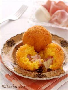 Arancini al prosciutto e mozzarella | Dulcisss in forno by Leyla