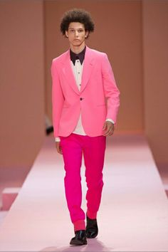Pink will be fashionable for men again some day. Today is not that day. LOL