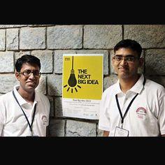 One of the IIM-B 'Next Big Idea' competition finalists Naresh Khanduri and Ritwik Batabyal from Ttatva Innovation Labs.