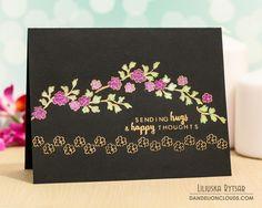 Три листівки з квітами... Sending Hugs and Thoughts - Dandelion Clouds