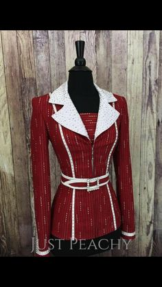 Horse Show Clothes, Rodeo Queen, Riding Jacket, Figure Skating Dresses, Sparkles Glitter, Show Horses, Western Wear, High Neck Dress, Leather Jacket