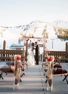 Romantique mariage à la montagne pour un mariage hiver. Winter wedding ideas