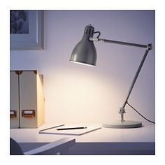 IKEA - ARÖD, Work lamp with LED bulb, You can easily direct the light where you want it because the lamp arm and head are adjustable.Provides a directed light that is great for reading.