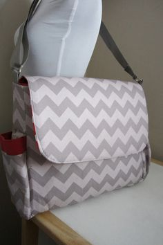 chevron diaper bag---love this! For a boy / girl!!