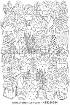FREE succulent coloring page download from alisaburke Coloring