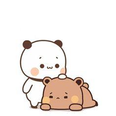 Cute Cartoon Pictures, Cute Love Pictures, Cute Love Cartoons, Cute Profile Pictures, Cute Images, Chibi Cat, Cute Chibi, Panda Drawing, Cartoon Giraffe
