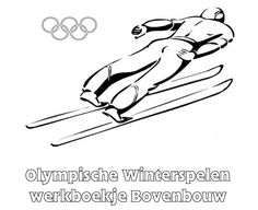 Olympische Spelen Werkboekje Bovenbouw 2018 Winter Olympics, Olympic Sports, Winter Art, Coloring Pages, Activities, Education, Skiing, Drawing, Kids