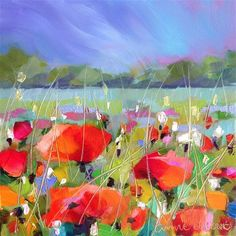 """Daily Paintworks - """"Poppy Power!"""" - Original Fine Art for Sale - © Anne Ducrot"""