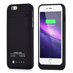 4efc507adc4 MUZE iPhone 6 Ultra Slim Battery Cases 3500mAh Rechargeable Extended  Charging Case for iPhone 6 (2014) / iPhone 6S (2015) (4.7 inch) (Black)