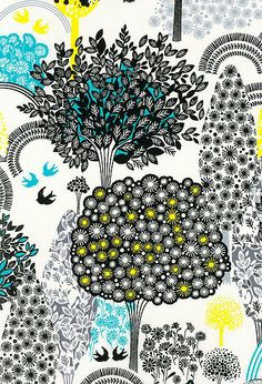 print from Lemon Grove fabric collection by Alice Kennedy for Timeless Treasures http://alicekennedydesign.blogspot.com/2011/10/lemon-grove-at-quilt-market.html #textiles #patterns #nature
