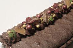 Chokoladetærte med saltkaramel og brownie